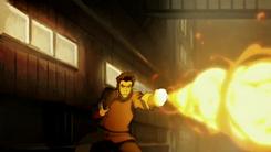 Mako firebending at Lieutenant
