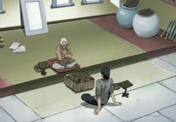 Asuma and Hiruzen playing Shogi