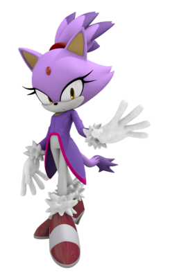 Blaze the cat 3d by fentonxd-d4lwcze