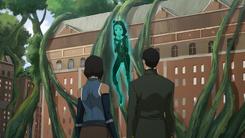 Korra, Mako, and Jinora's spirit projection