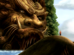 300px-Aang with Lion Turtle