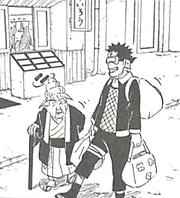 Obito escorting an elderly woman