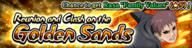 Reunion and Clash on the Golden Sands Banner