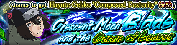 Crescent Moon Blade and the Dance of Leaves Banner