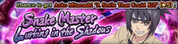 Snake Master Lurking in the Shadows Banner
