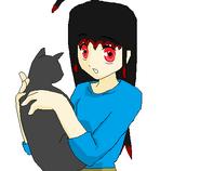 Izi holding a cat