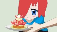 Purvis giving a sad Akihiko a sweet