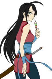 Floria in her ninja outfit