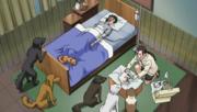 Hana curando a Kiba y Akamaru