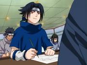 Sasuke colando na prova com seu Sharingan