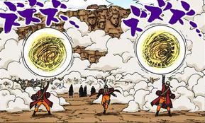 Arte Sabia Grande Bola Rasengan Naruto Mangá