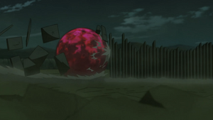Elemento Tierra Jutsu Práctica de Ladrillo Anime