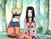 Haku se encuentra con Naruto