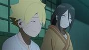 Hanabi conversando con Boruto