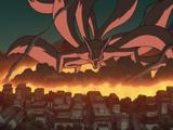 Ataque del Zorro Demonio de Nueve Colas