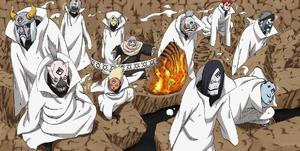 Jutsu Secreto Blanco Diez Marionetas de Chikamatsu Manga