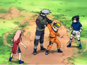 Velocidad demostrada de Kakashi ante el ataque de Naruto