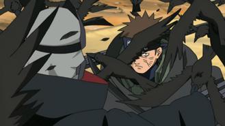 Raidō attacking Kakuzu