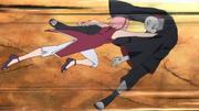Sakura golpea a Shin