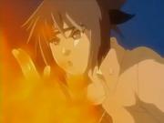 Anko disparando una ráfaga de fuego