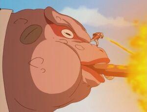 Elemento Fuego Bola de Fuego de Aceite de Sapo Anime