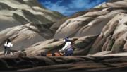 Hinata escolta Naruto