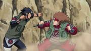 Ino controla a Chōji para pelear con Asuma