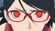 Sarada despertando o Sharingan
