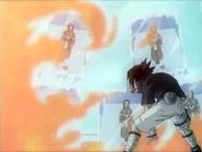 Sasuke atacando Haku