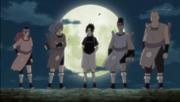 Los Cuatro del Sonido liderados por Sasuke