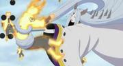 Naruto es atravesado por un hueso pulverizador