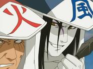 Orochimaru se revela para Hiruzen