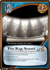 Cumbre de los Cinco Kages Carta