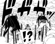 Jigen surpreende Sasuke e Naruto
