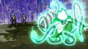 Mitsuki roba el pergamino de Orochimaru