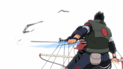 Asuma beheads Hidan