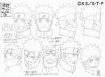 Diseño de Naruto Facciones I por Pierrot
