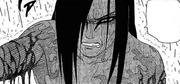 Orochimaru sofrendo (Mangá)