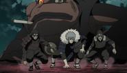 Hashirama, Tobirama e Hiruzen confrontam Obito