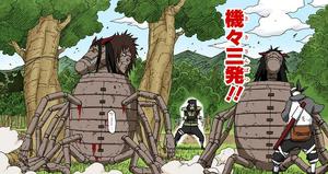 Jutsu Secreto Negro Triple Doncella de Hierro Manga