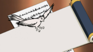 Pássaro de Cauda Bifurcada (Desenho)
