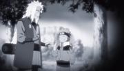 Recuerdo de Jiraiya y Naruto al comienzo de Sign