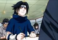 Sasuke colando na prova