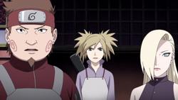 Choji, Temari e Ino raggiungono Shikamaru