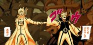 Naruto e Minato tocam os punhos