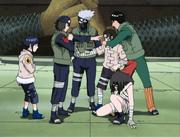 Neji powstrzymany od ataku na Hinatę