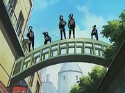 Yūgao e outros ANBU na Invasão de Konoha