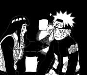 Hinata dá um tapa em Naruto