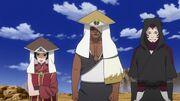 Kankurō, Darui y Kurotsuchi antes de los exámenes