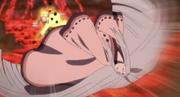 Naruto logra golpear sorpresivamente a Kaguya